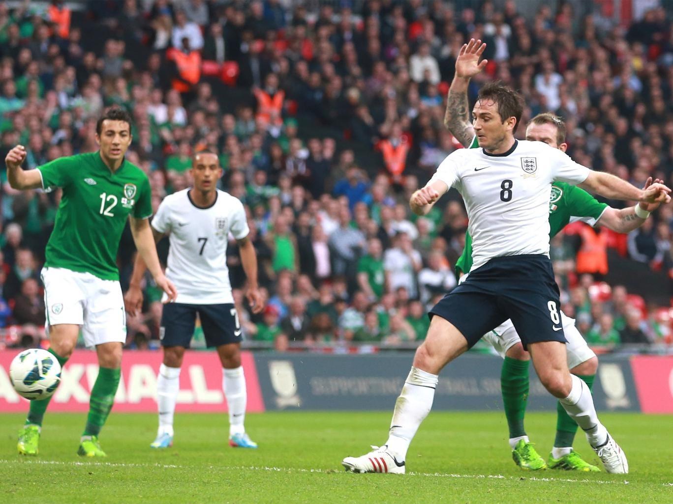 Frank Lampard scores England's equaliser