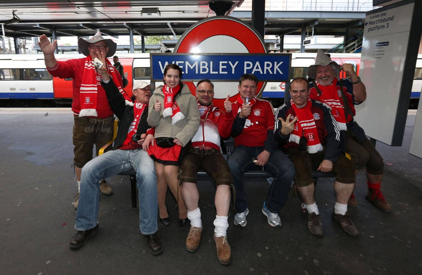 Not here for the beer: Bayern Munich fans in London