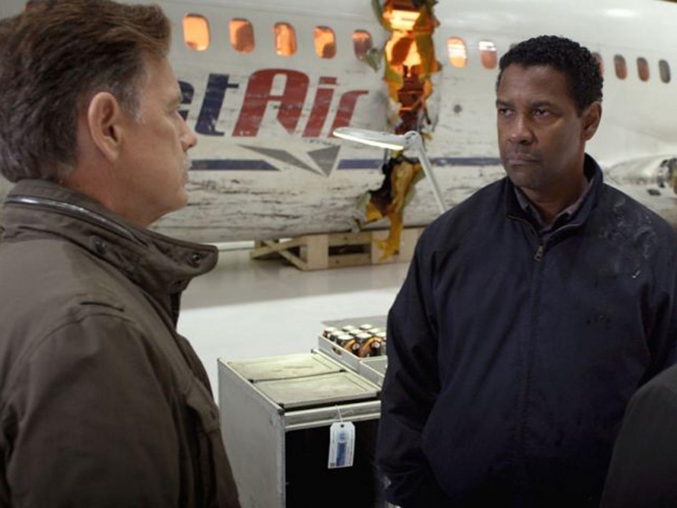 "Denzel Washington in Robert Zemeckis' ""Flight"""