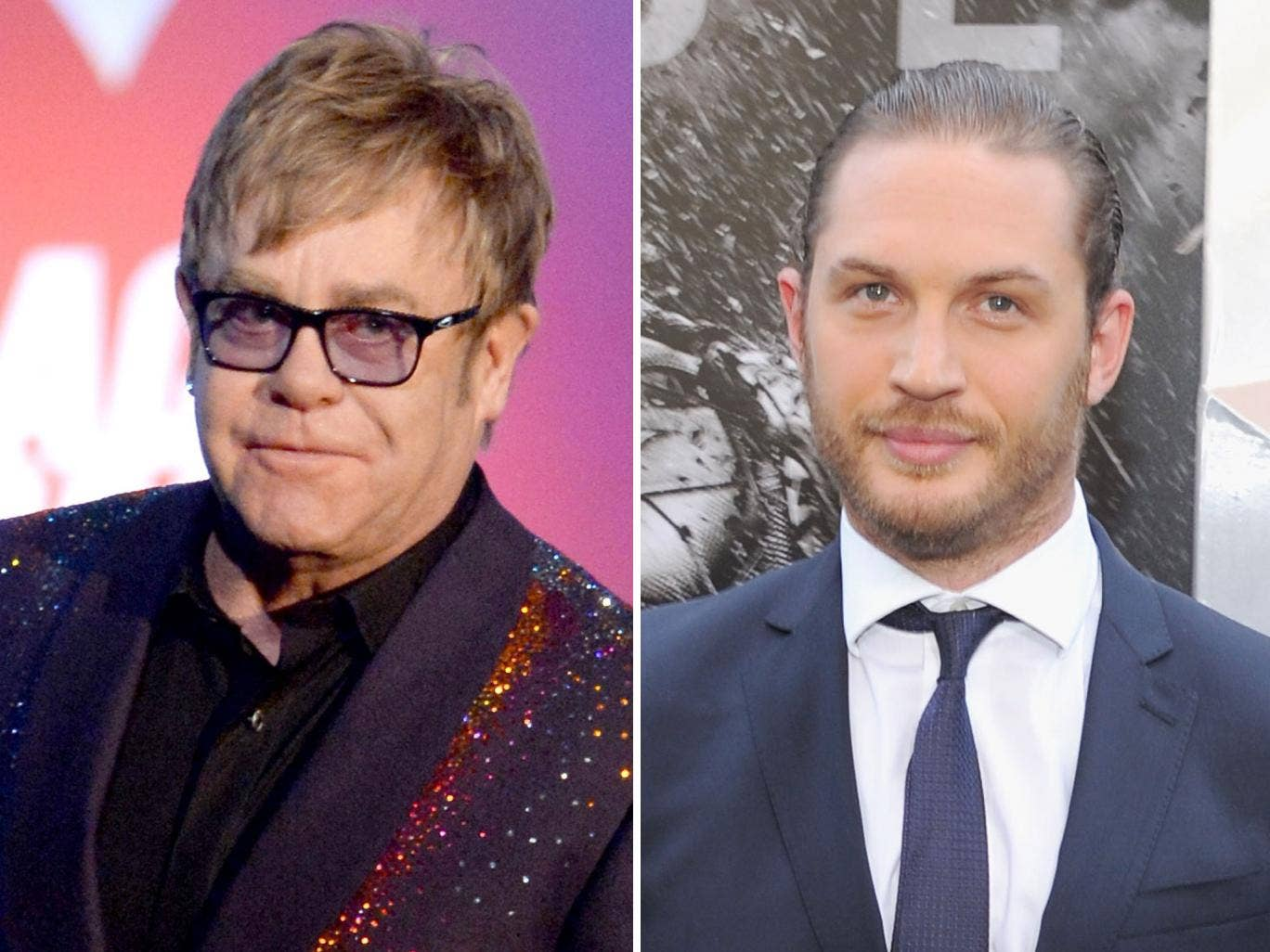 Reports suggest that rugged movie tough-guy Tom Hardy is a top contender to play Sir Elton in Rocketman