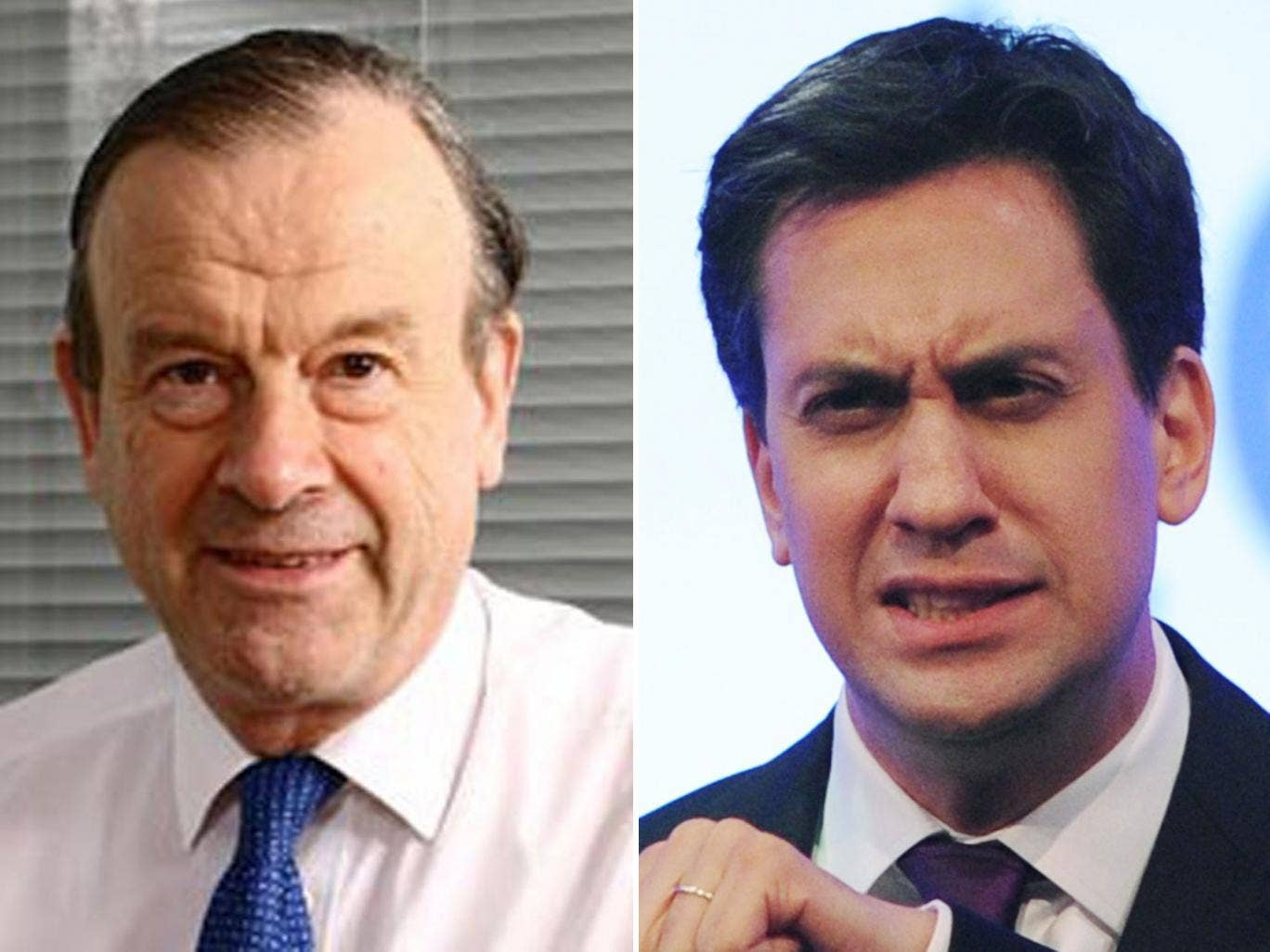 John Mills, left, said Ed Miliband had no clear idea on how to get the economy growing