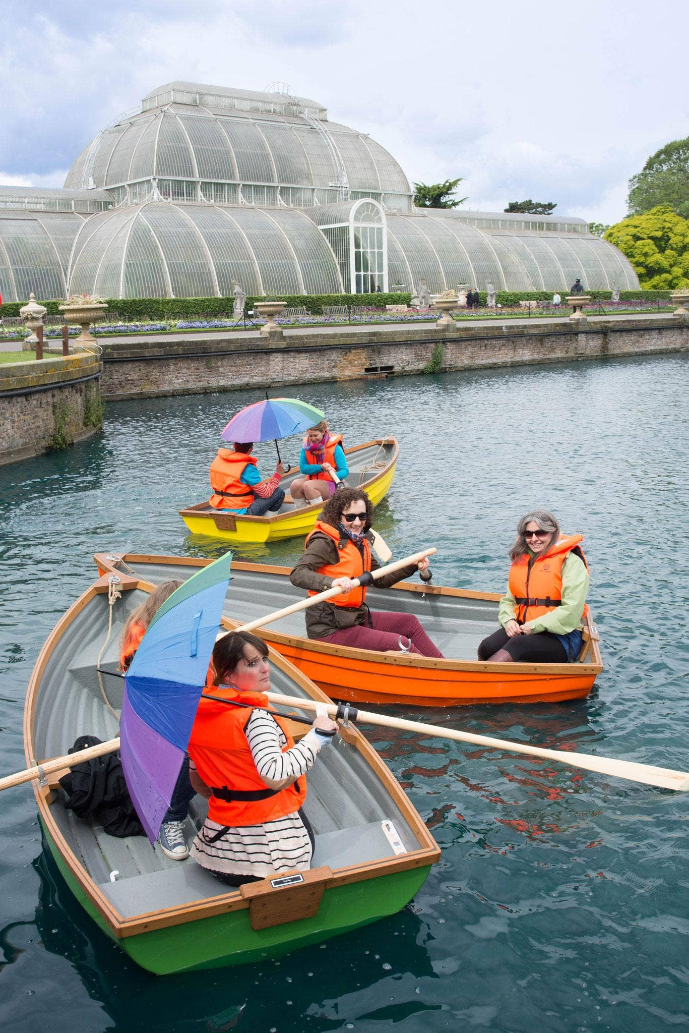 Go boating on a Tutti Frutti lake at the gardens in Kew