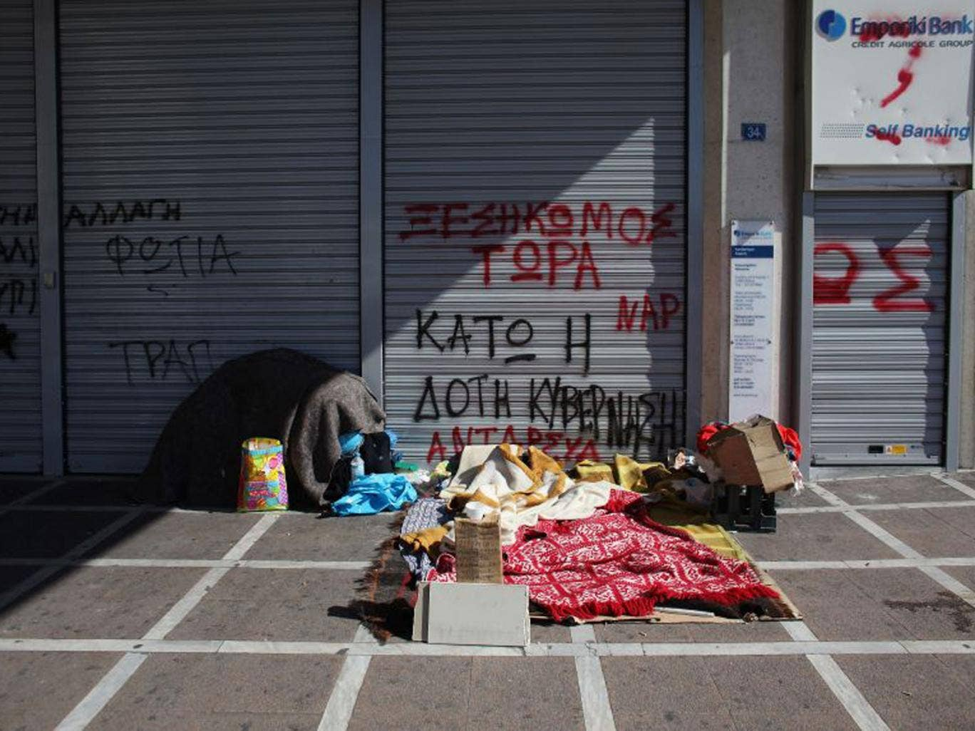 Soaring unemployment levels in crisis-stricken Greece have led to a worrying increase in homelessness in the past two years
