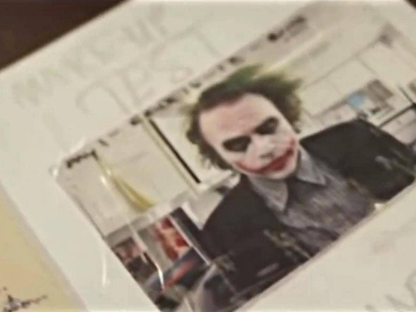 A still from 'Too Young to Die' showing Heath Ledger in Joker make-up