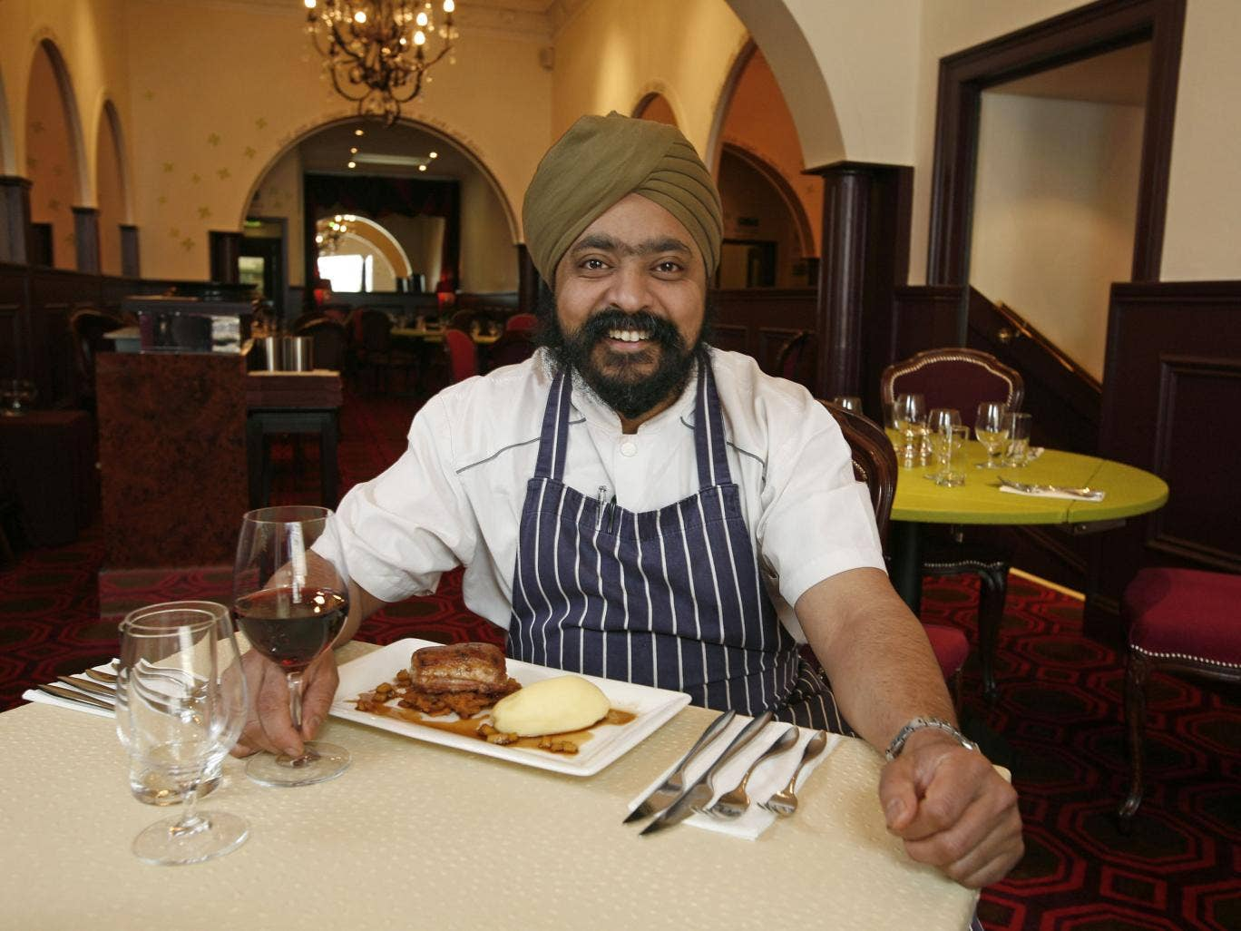 Tony Singh at his new restaurant, Tony's Table