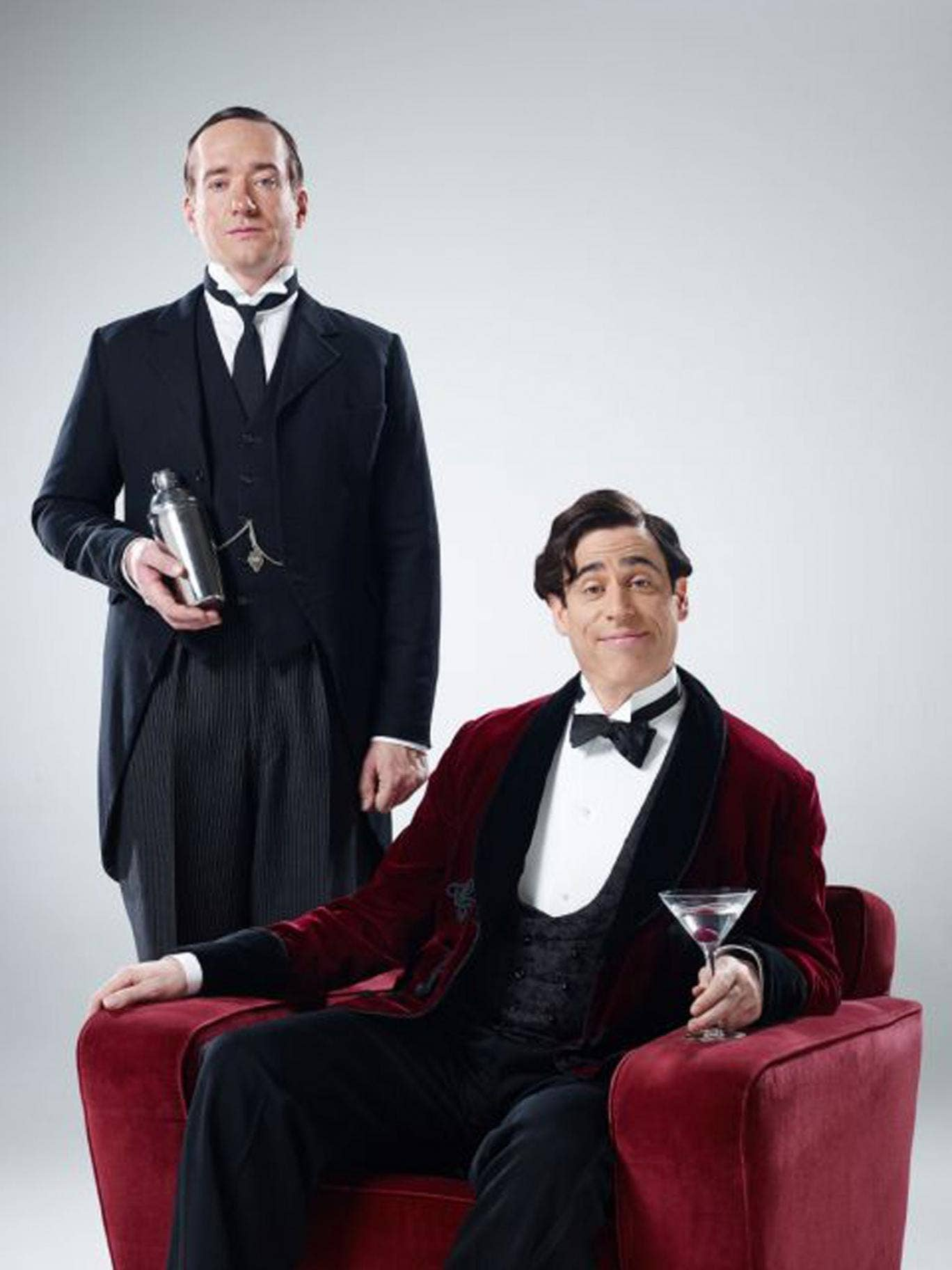 Stephen Mangan, right, and Matthew Macfadyen, left, as Wooster and Jeeves