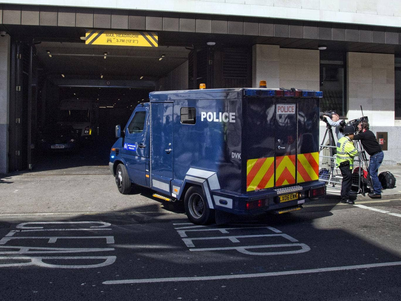 3 June 2013: The van believed to be carrying Michael Adebolajo, 28, arrives at Westminster Magistrates Court, central London, where he is due to appear charged with the murder of Drummer Lee Rigby