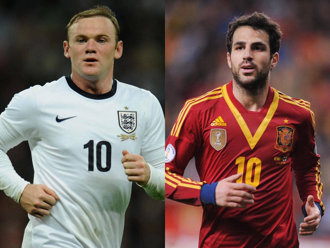 Wayne Rooney and Cesc Fabregas