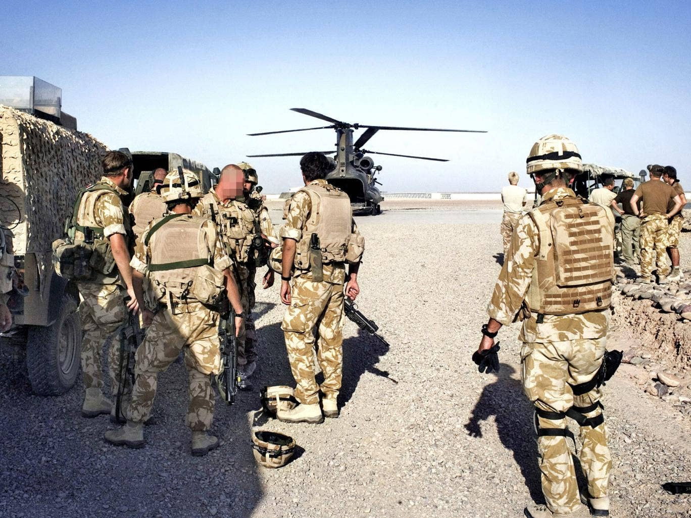 British troops on duty in Afghanistan