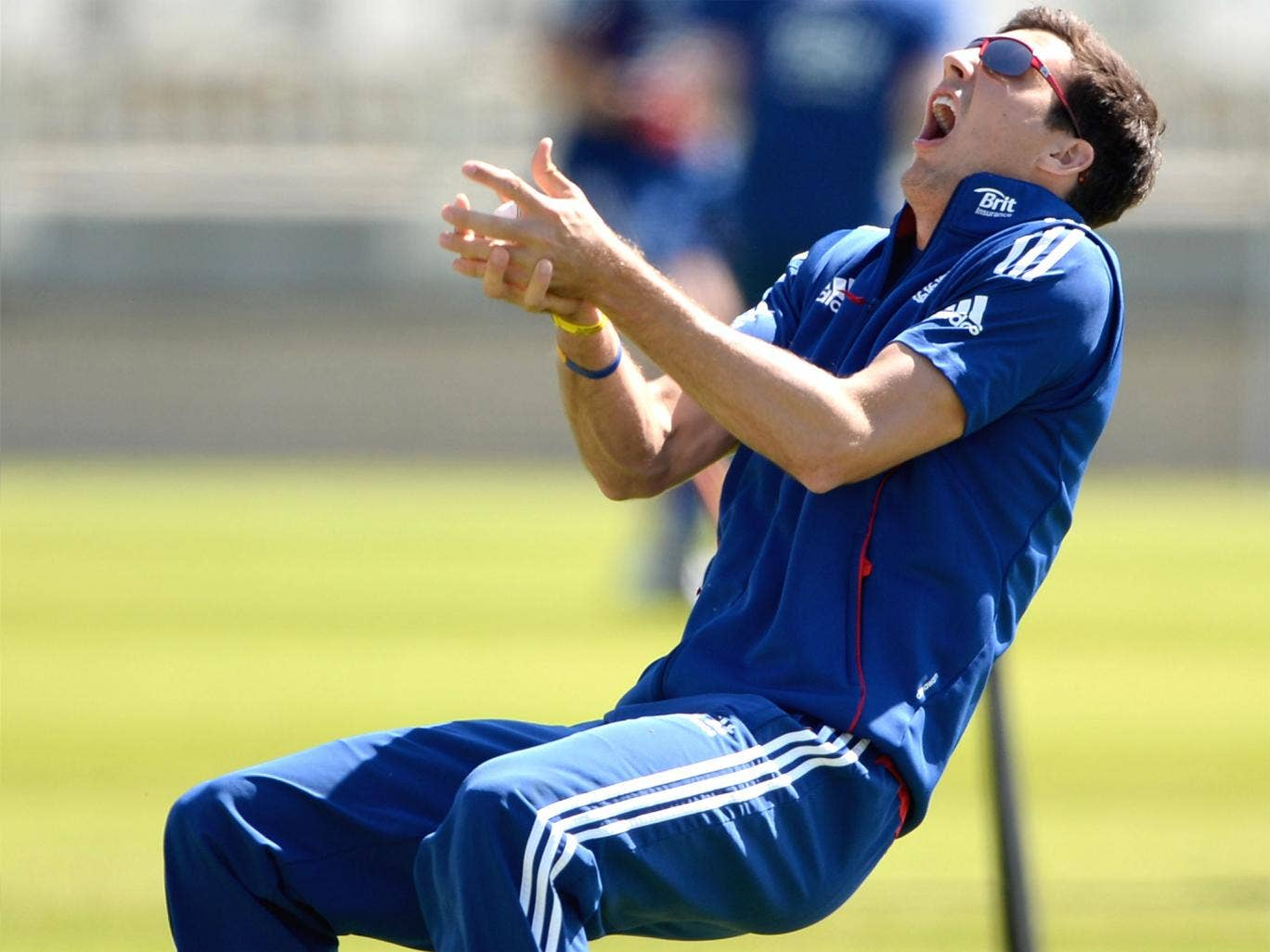 Steven Finn was back in training with England at Trent Bridge