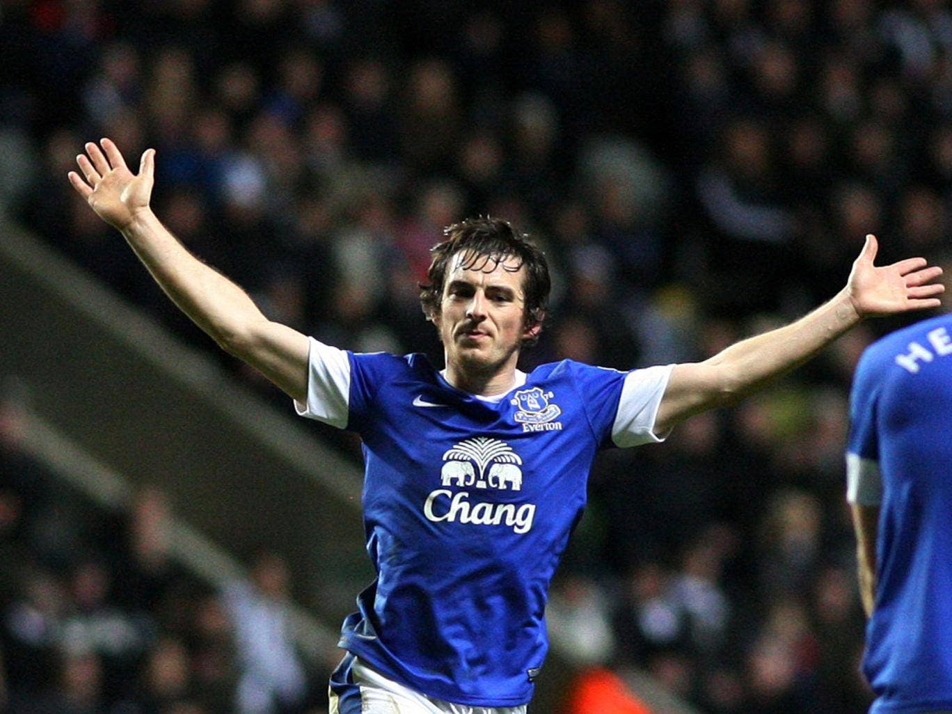Bill Kenwright said that the only thing preventing Moyes from making bids for Baines (pictured) and Marouane Fellaini was his relationship with his former manager