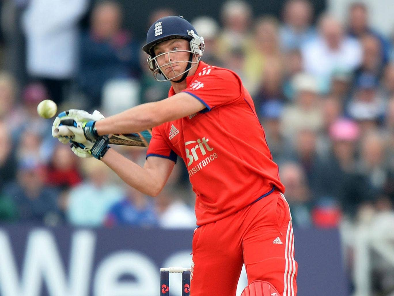 Jos Buttler on his way to an unbeaten 47 from 16 deliveries