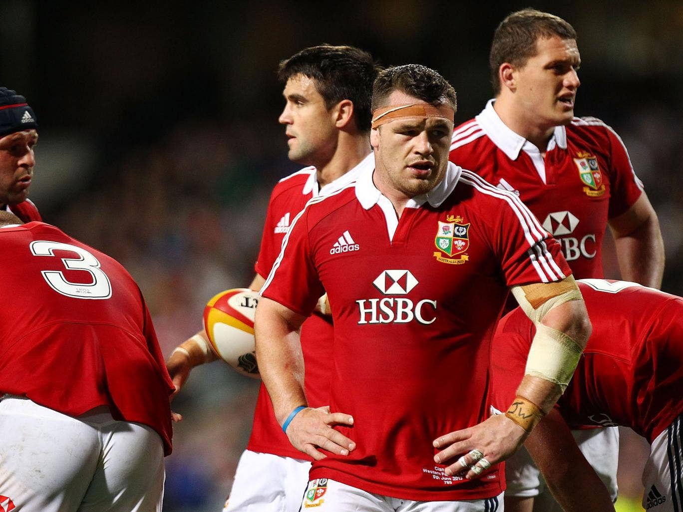 Cian Healy during his eventful outing against Western Force
