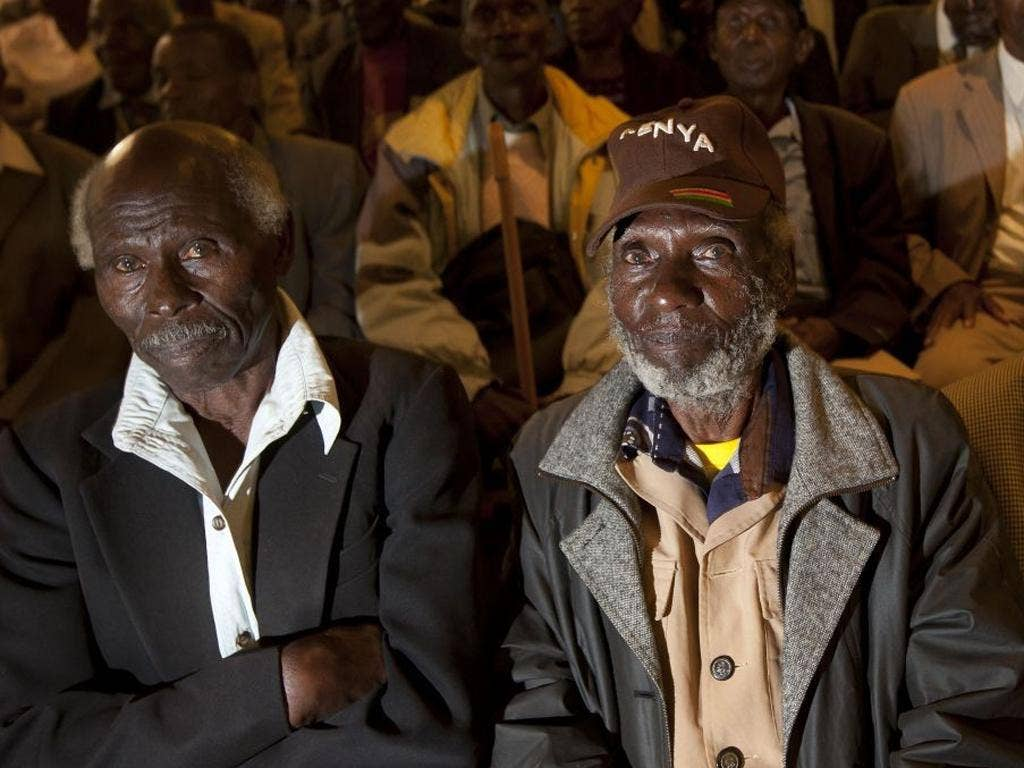 Kenyan veterans waiting for news about their compensation in Nairobi yesterday