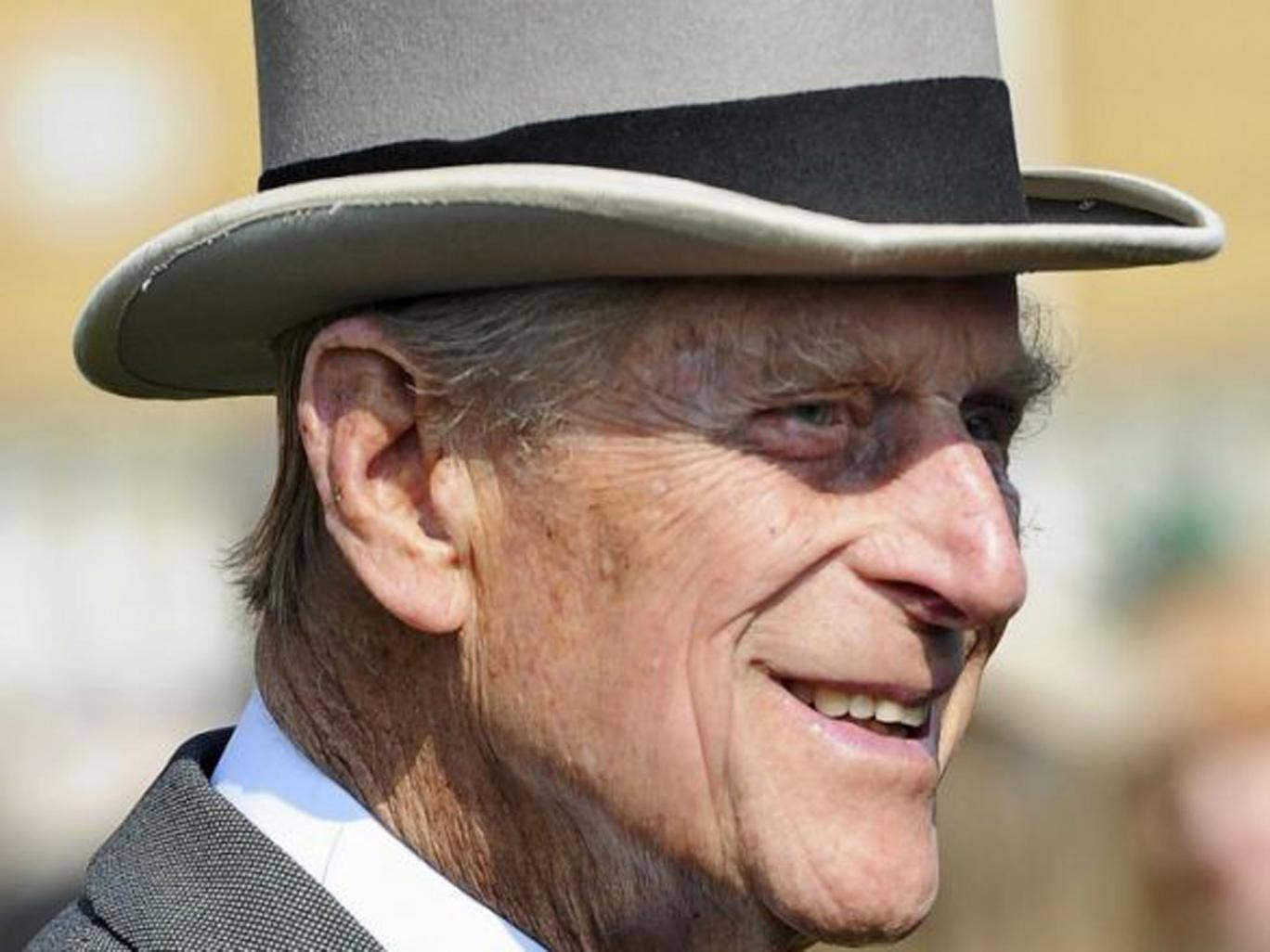 Britain's Prince Philip attends a Garden Party at Buckingham Palace in London