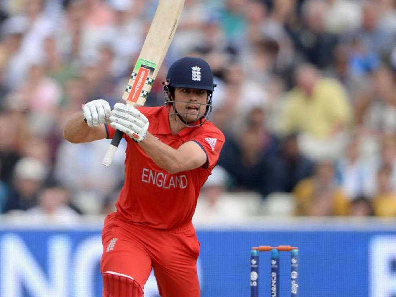 Delighted: England captain Alastair Cook was pleased with the display