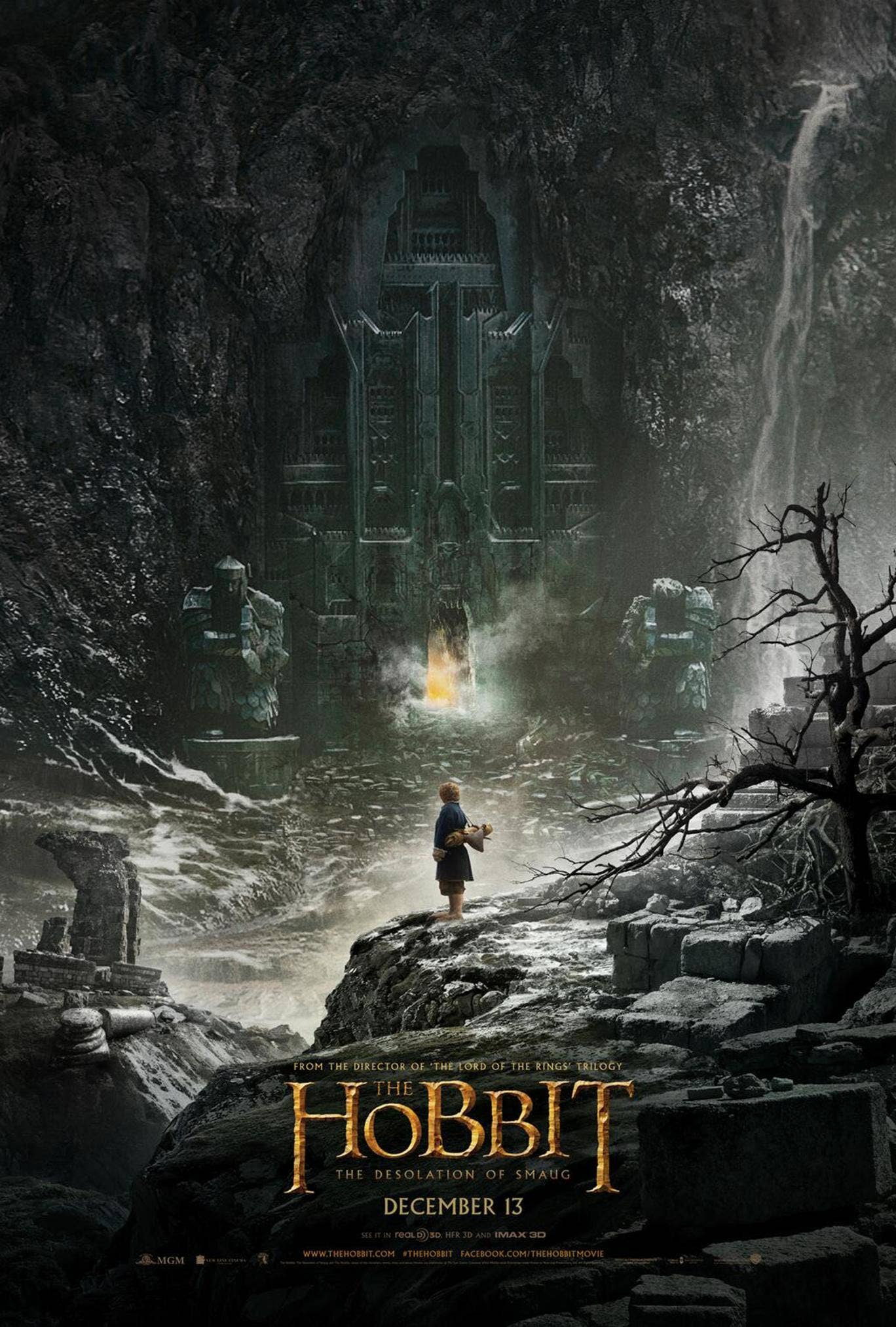 The Hobbit: The Desolation of Smaug poster has been revealed online. The film is due to be released in December 2013.