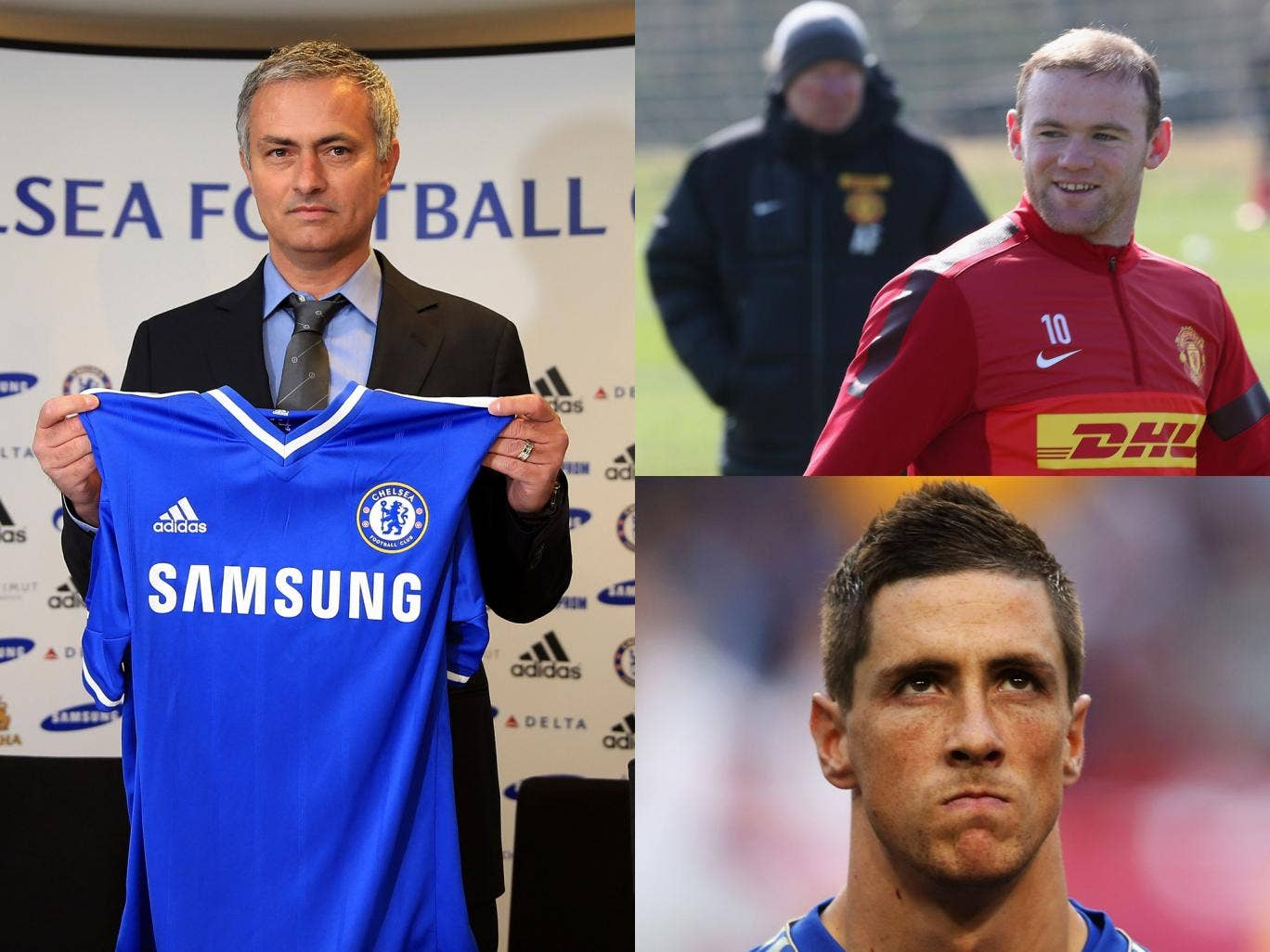 Mourinho, Rooney and Torres