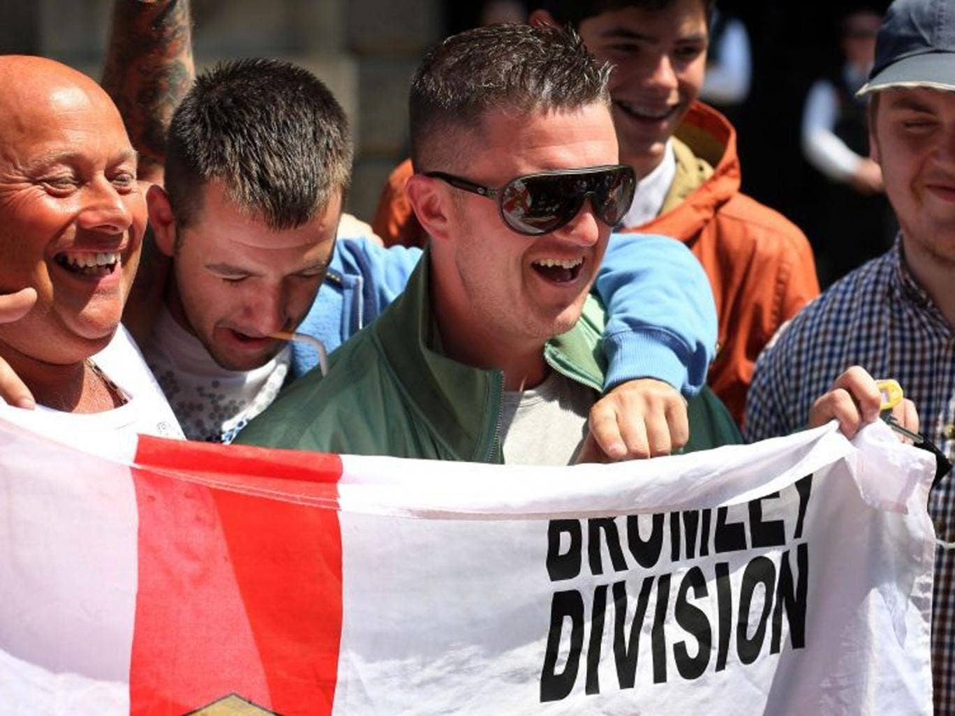 """EDL leader Tommy Robinson, who today said he """"utterly condemns"""" attacks on Muslims"""