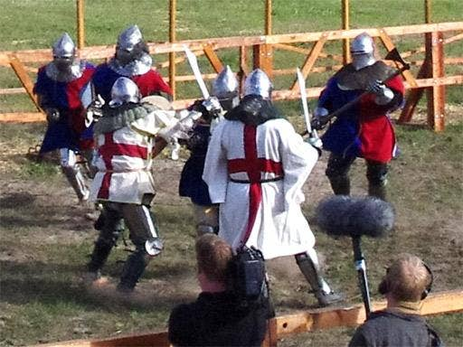 Team UK in action during the Full Contact Medival Fighting World Championships