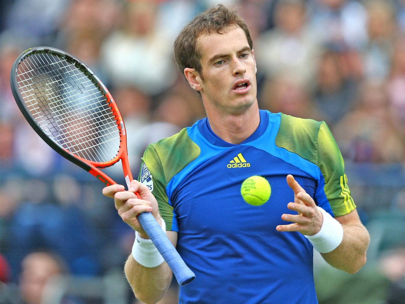 Murray endured a frustrating day of disruptions