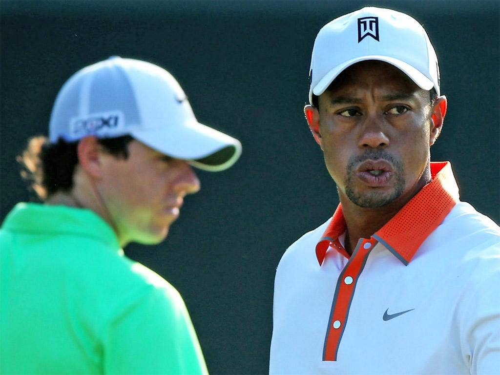 Rory McIlroy and Tiger Woods practiced together as they made their final preparations for the US Open