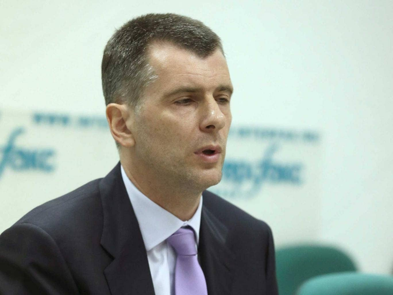 Mikhail Prokhorov speaking in Moscow today