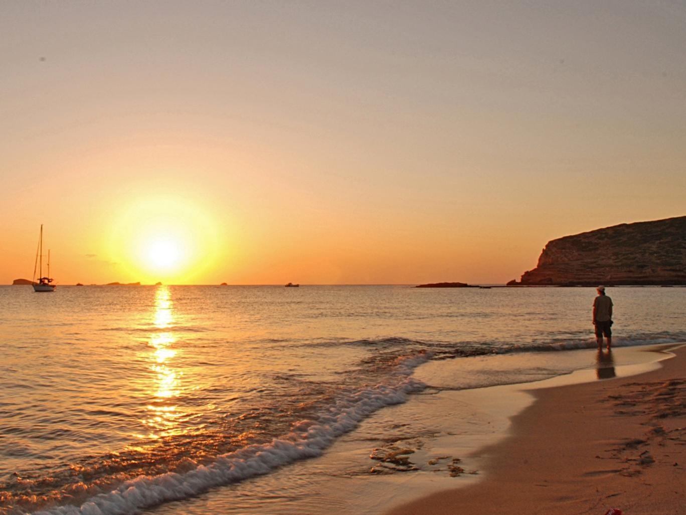 Dark night rises: the sun sets on the island of Ibiza