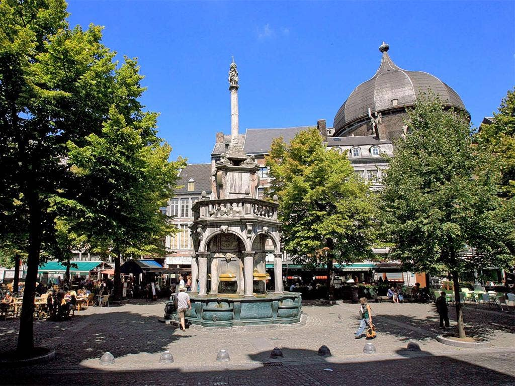 Historic heart: Place du Marché in the centre of Liège