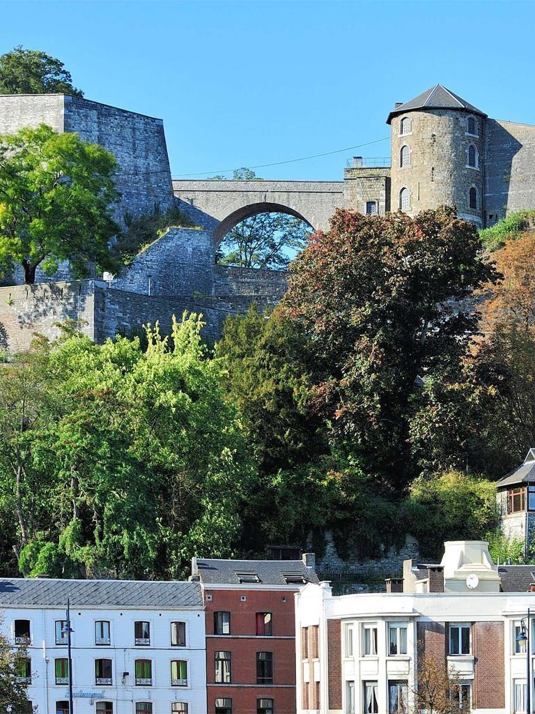 Rock solid: Namur's ancient citadel still dominates the streets below
