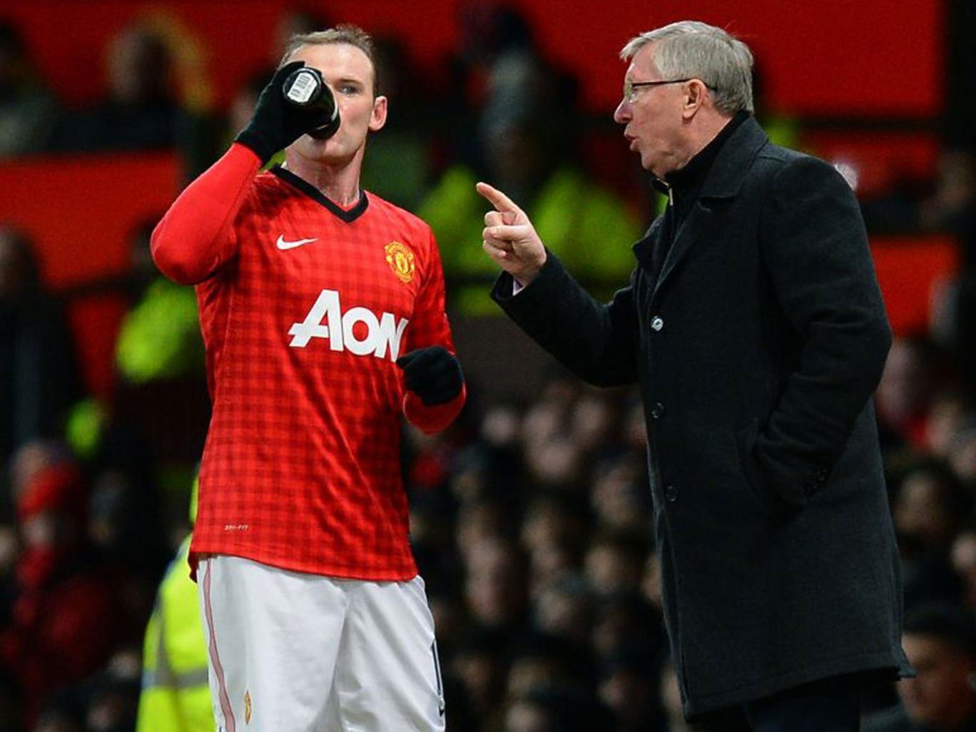 Sir Alex Ferguson (right) said Wayne Rooney had asked for a transfer