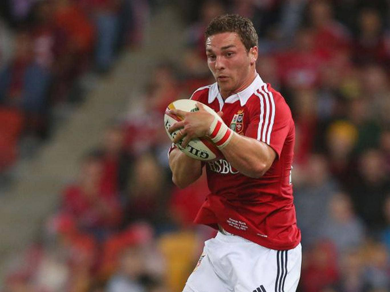 George North, the standout Lion, has a hamstring injury