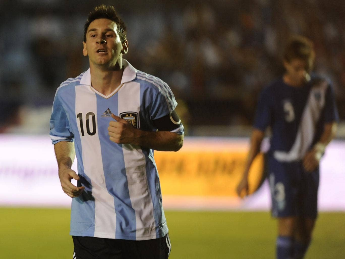Lionel Messi scored a hat-trick in the 4-0 victory over Guatamala