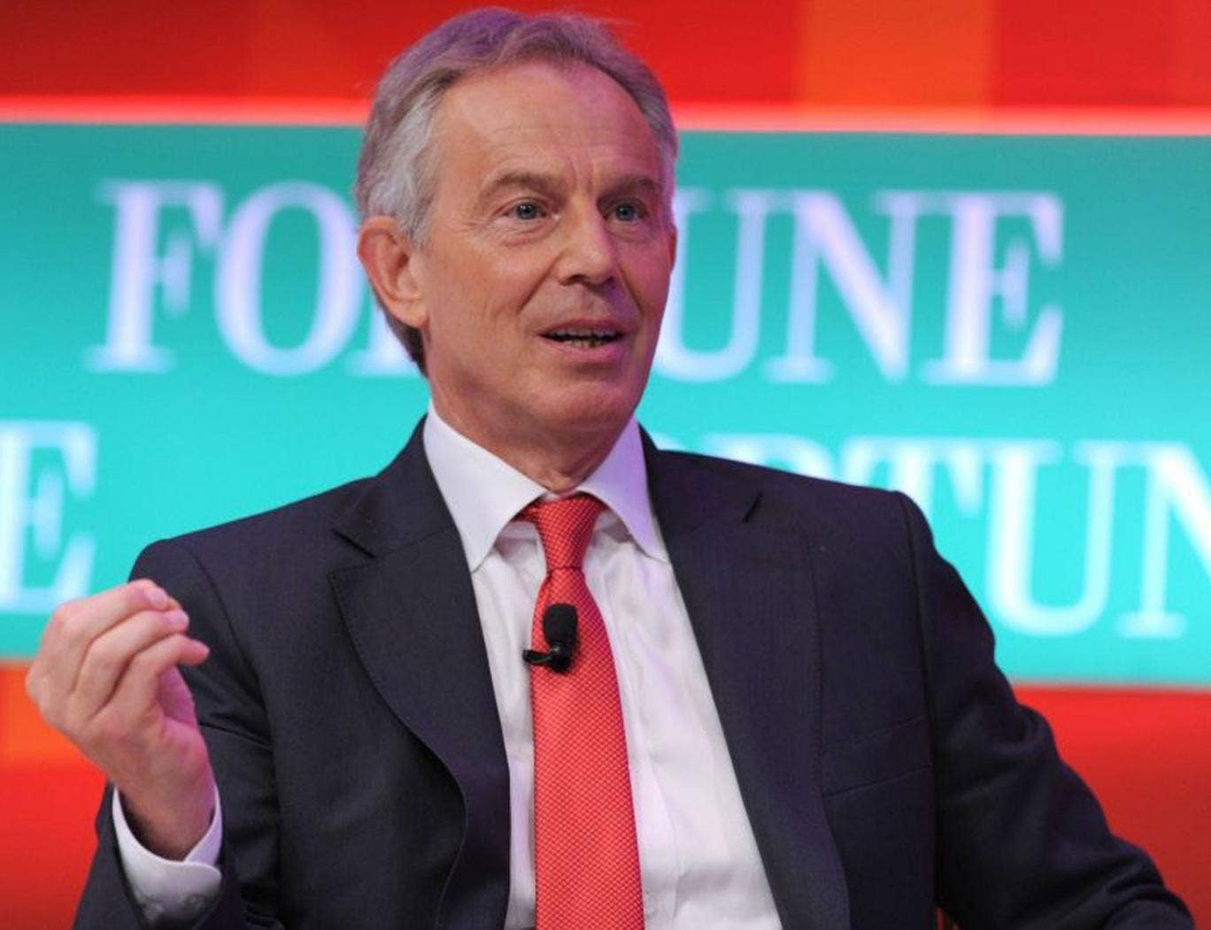 Tony Blair has said the Government should consider imposing a no-fly zone over Syria