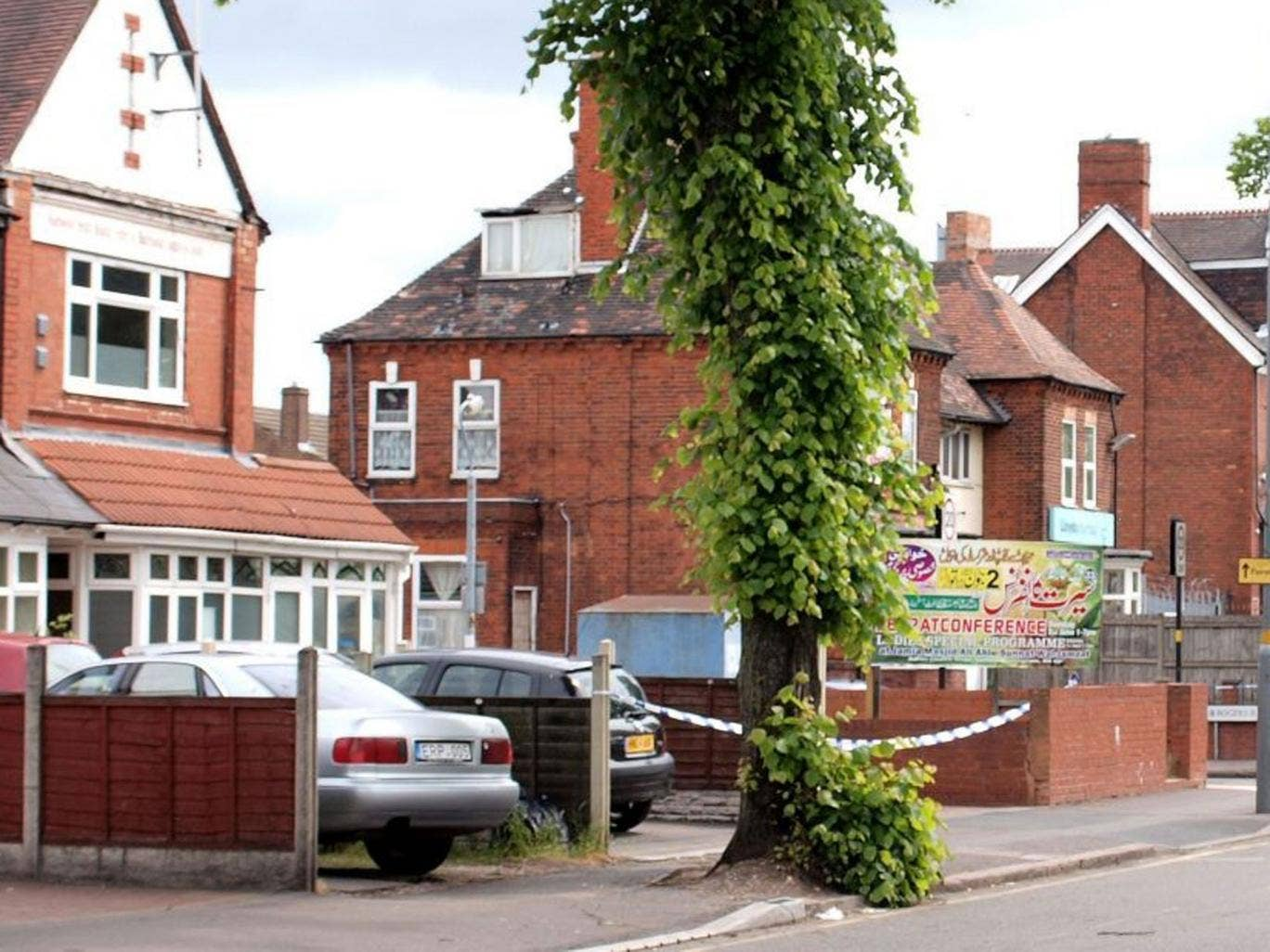 Washwood Heath Muslim Centre in Birmingham where three men and a police officer were stabbed