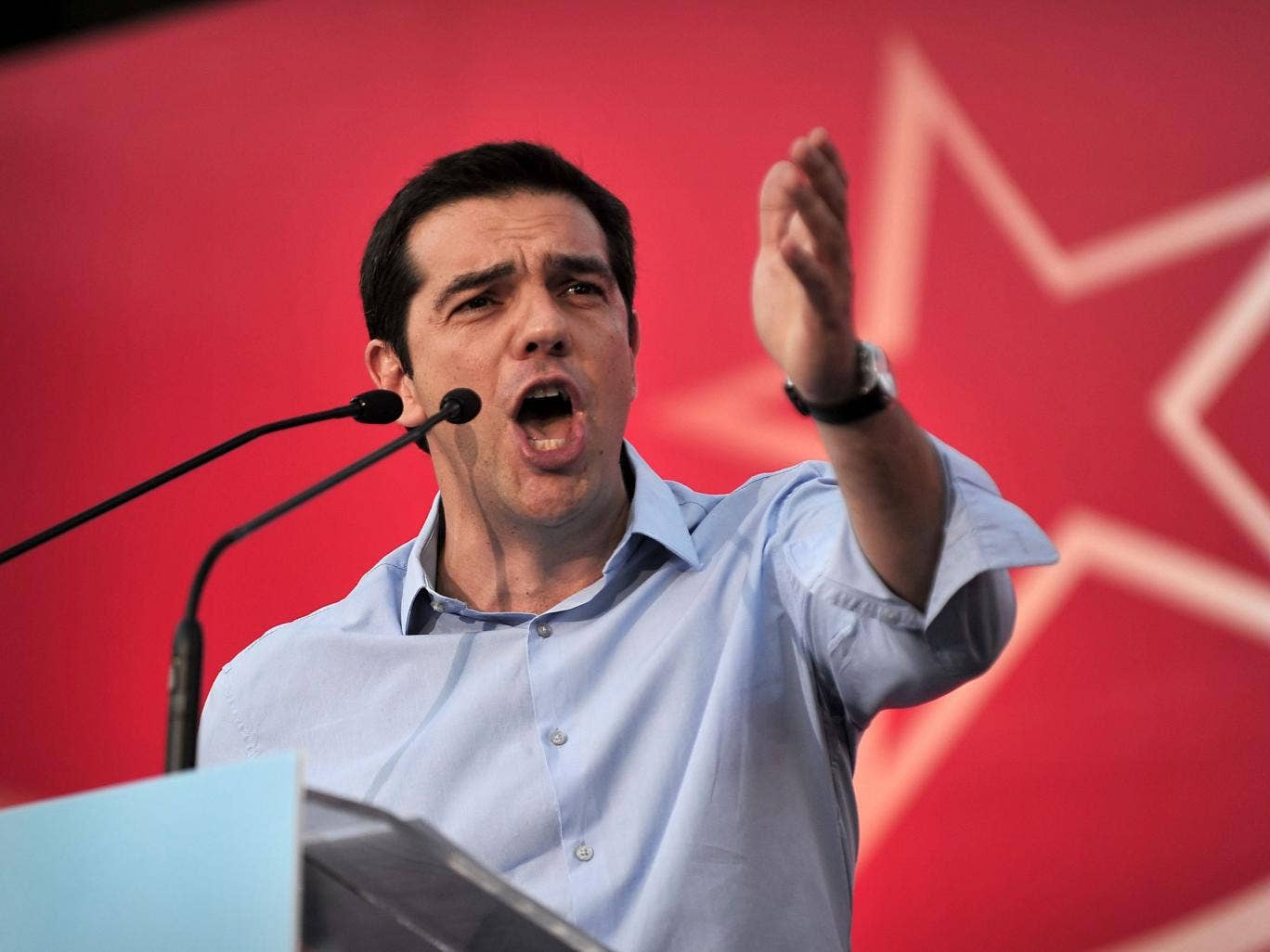 Left-wing opposition leader Alexis Tsipras has demanded elections