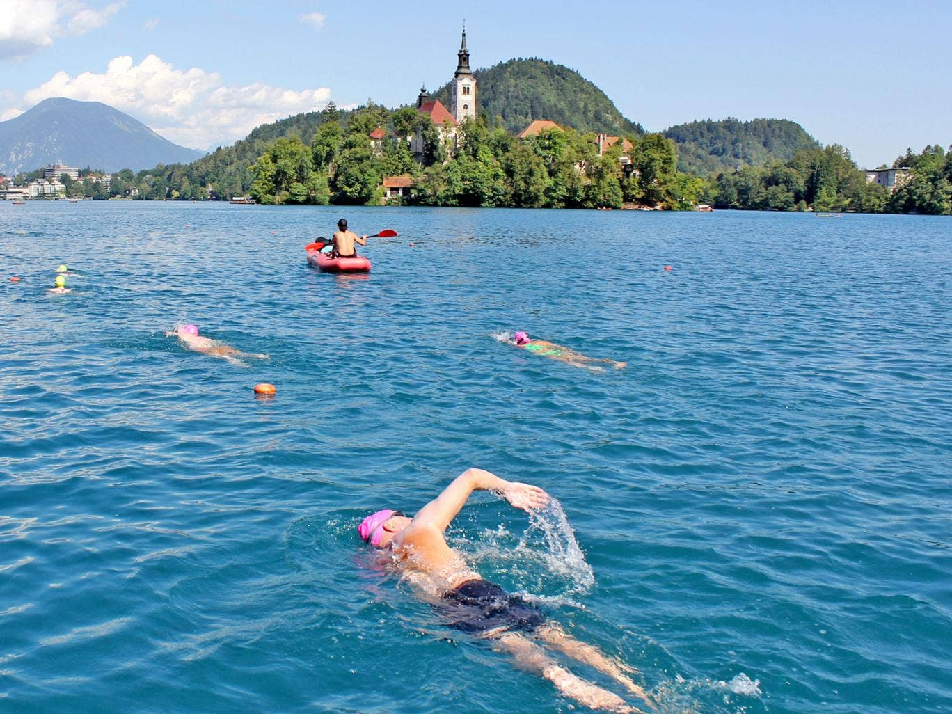 Water babies: a Strel swimming holiday in Lake Bled