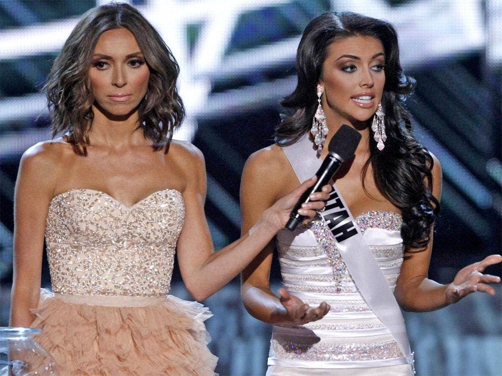 Miss Utah, Marissa Powell, lets rip about corporate sexism during Sunday's pageant