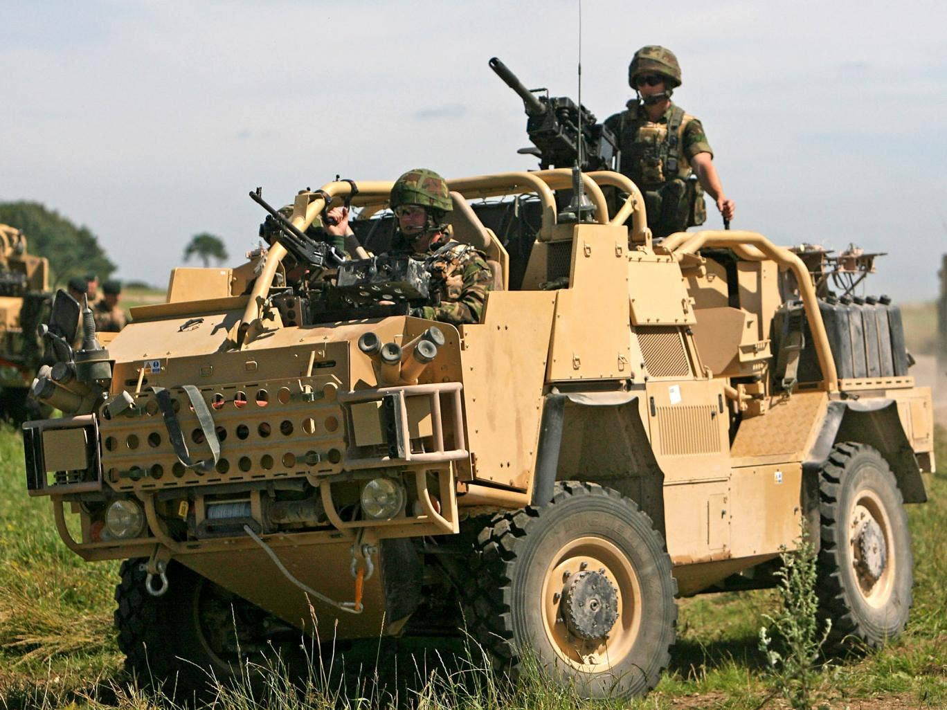 A Jackal armoured vehicle, which cost £350,000 each