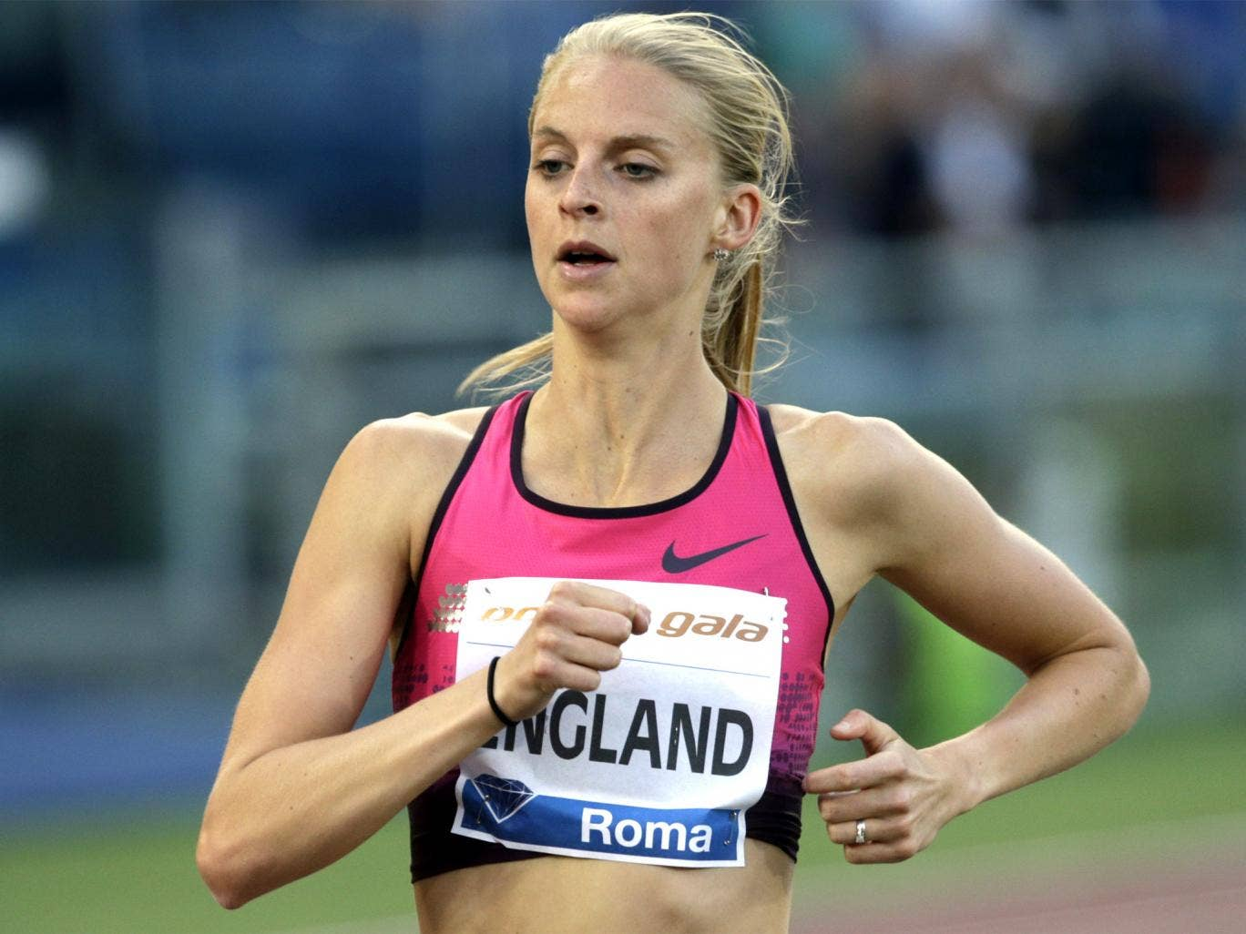 Hannah on her way to finishing fourth in Rome earlier this month