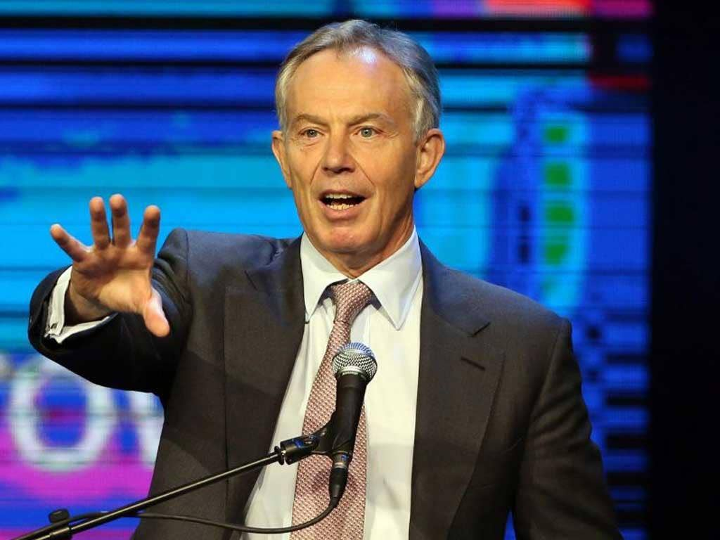 Tony Blair has warned against Syria inaction