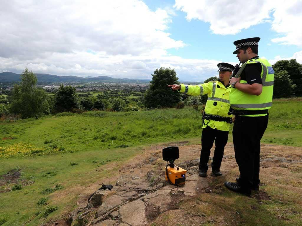 The woman's remains were found at the top of Corstorphine Hill in Edinburgh