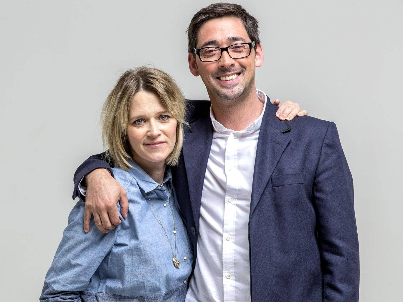 Belly laughs: 5 Live's 'Bump Club' presenters Edith Bowman and Colin Murray