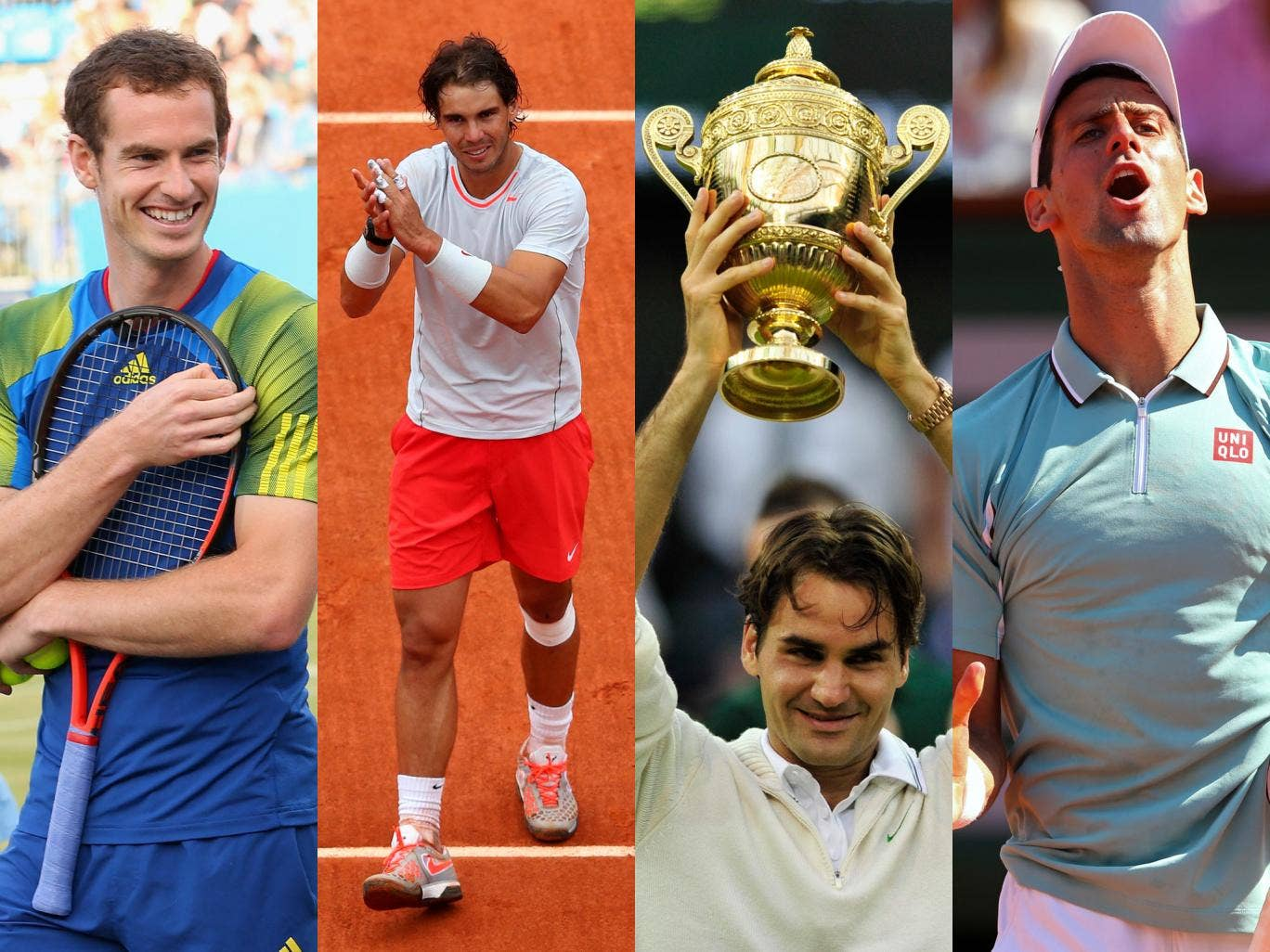Andy Murray, Rafa Nadal, Roger Federer and Novak Djokovic