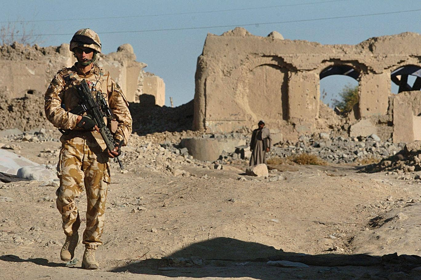 Human cost of war: A British soldier on patrol in Helmand province