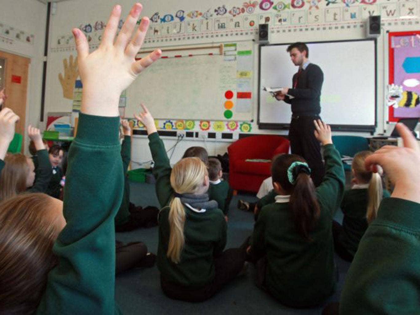 The number of five- to seven-year-olds taught in classes of more than 30 pupils has risen by 50 per cent in the past year