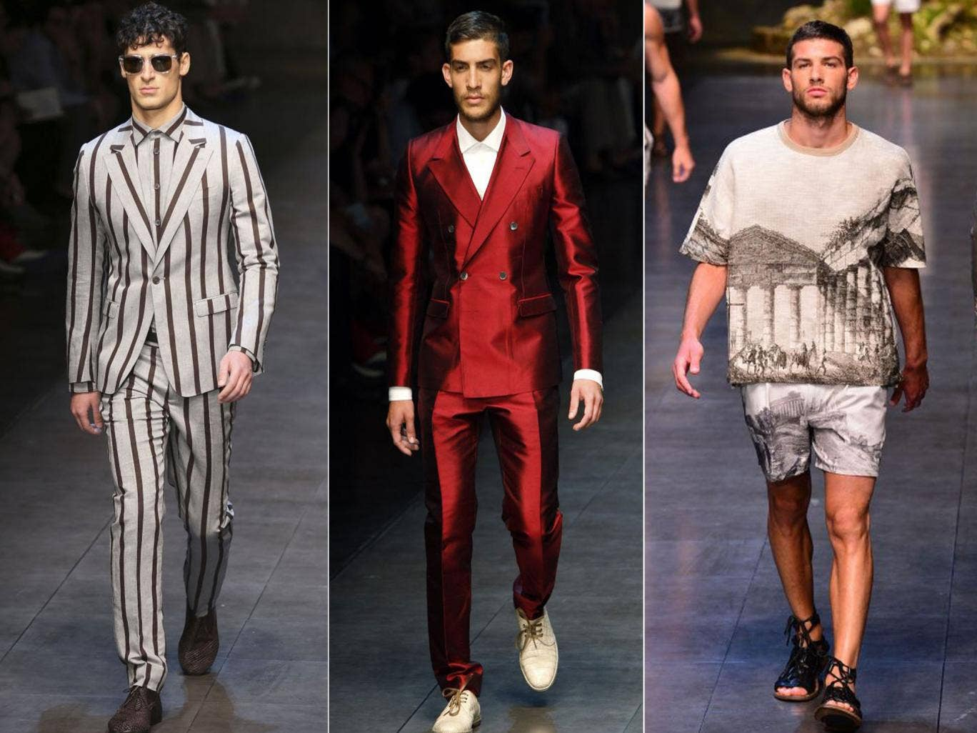 Dolce and Gabbana mined Sicilian mythology for inspiration. Plus, some eye-catching suits