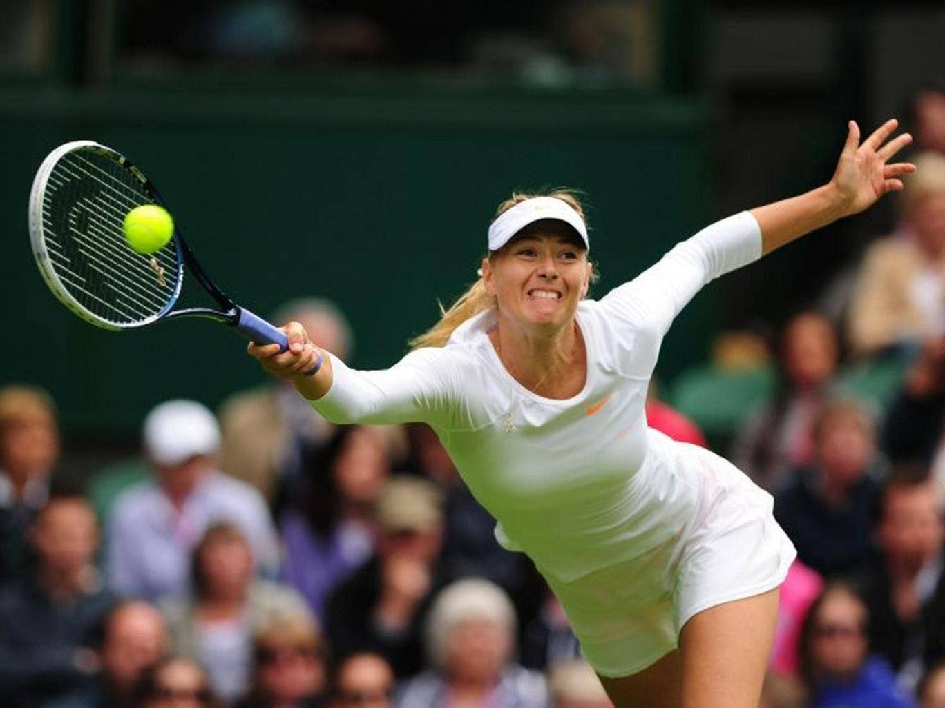 Kristina Mladenovic put Maria Sharapova under intense pressure in the opening set before the class of the world number three began to tell, resulting in a 7-6 (7/5) 6-3 victory for the Russian