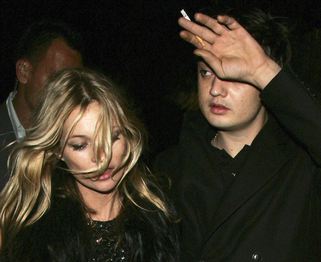 Kate Moss and Pete Doherty when they were having a relationship in 2006