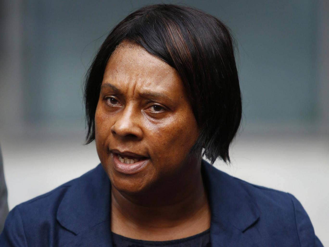 27 June 2013: Doreen Lawrence, mother of Stephen Lawrence, gives a statement to the media following a meeting with The Home Secretary, Theresa May (unseen) in central London